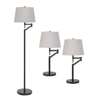 "61"" Swing Arm Floor/Table Lamp Dark Bronze - Cal Lighting"