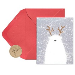 20ct Papyrus Polar Bear Boxed Holiday Greeting Cards