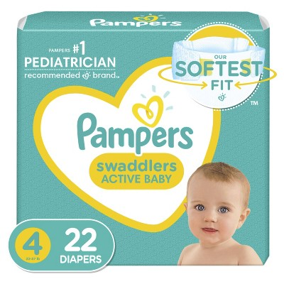 Pampers Swaddlers Diapers - Size 4 - 22ct