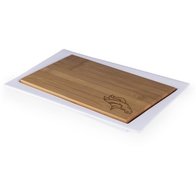 Denver Broncos Enigma Bamboo Cutting Board and Serving Tray by Picnic Time
