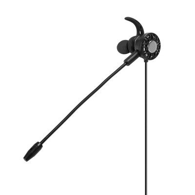 3.5mm In-Ear Gaming Earbuds for Mobile Game PC PS4 PS5 Nintendo Switch, Wired Headset with Detachable Microphone Flexible Mic, Black by Insten