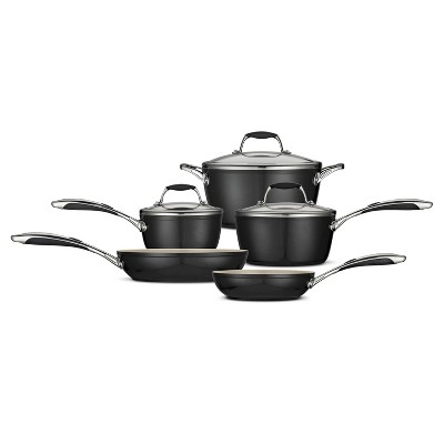 Tramontina Gourmet Ceramica_01 Deluxe 8pc Cookware Set Metallic Black