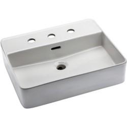 "Mirabelle MIRV308 Hibiscus 19-11/16"" Vessel Style Bathroom Sink"