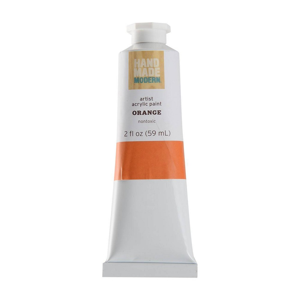 Image of 2 fl oz Acrylic Craft Paint - Hand Made Modern Orange