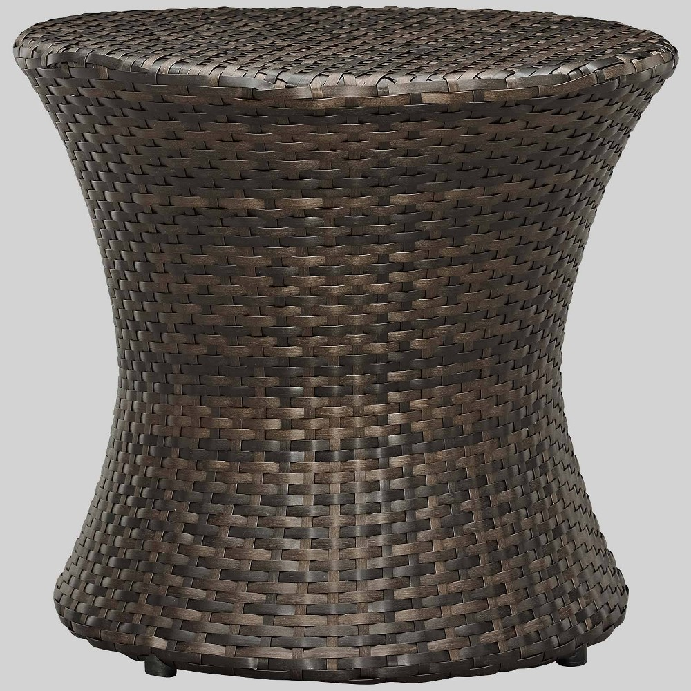 Stage Outdoor Patio Side Table Brown Modway