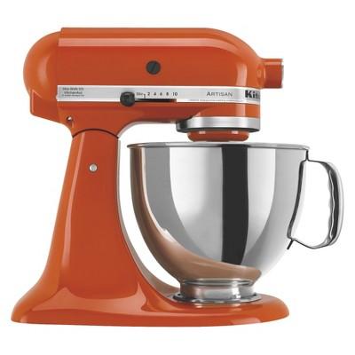 KitchenAid Artisan Series 5 Quart Tilt-Head Stand Mixer- Ksm150, Red Orange