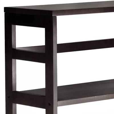 '42'' 3 Section Wide Bookshelf Espresso - Winsome'