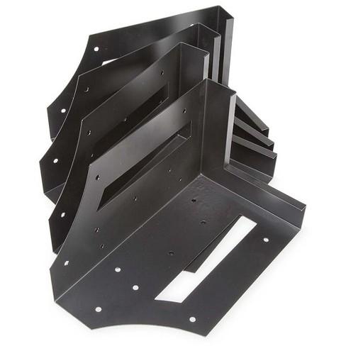 Plow & Hearth - Steel Raised Garden Bed Corner Brackets, Set of 4 - image 1 of 4
