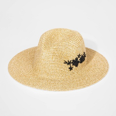 Girls' Straw Floppy Hat - art class™ Cream