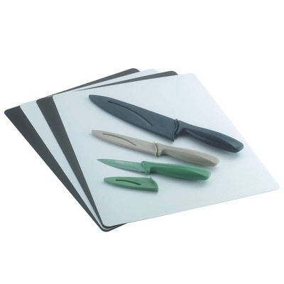 Poly 4pc Chopping Mats and 3pc Knife Set - Room Essentials™