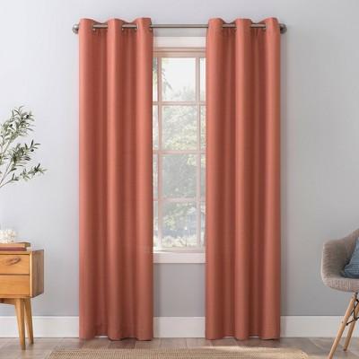 Herschel Slub Textured Semi-Sheer Grommet Top Curtain Panel - No. 918