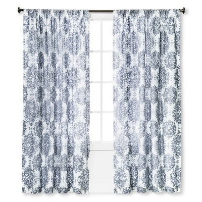 Curtain Panel Cresta Gray (55 x84 )- Homethreads™