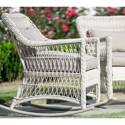 2pk Pearson All Weather Wicker Rocking Chairs   Leisure Made : Target