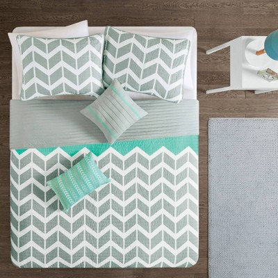 Chevron Darcy Quilted Coverlet Set Multiple Piece - JLA Home