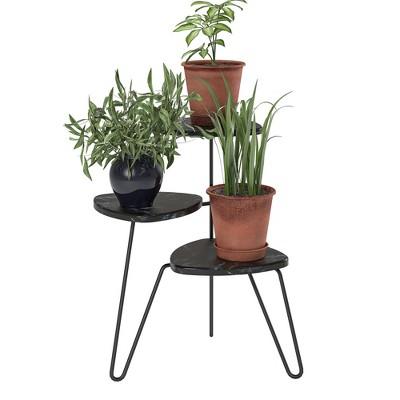 Athena Plant Stand Marble - Novogratz