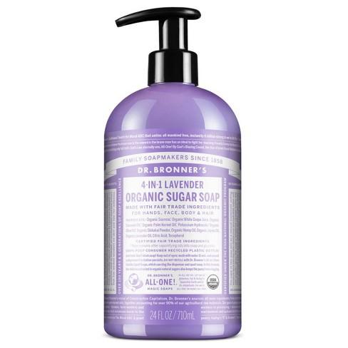 Dr. Bronner's Organic Sugar Soap - Lavender - 24 fl oz - image 1 of 2