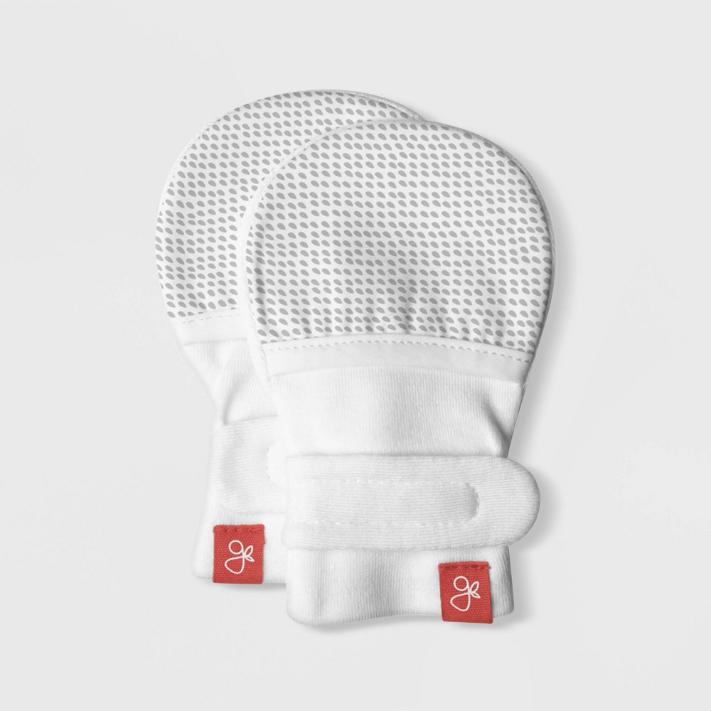 Image of Goumikids Baby goumimitts Drops - Gray 0-3M, Kids Unisex, Size: Small, Beige Gray