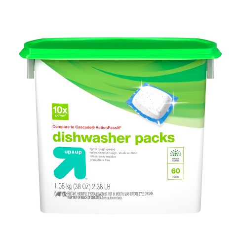 Up&Up™ Dishwasher Detergent Pacs - 60ct (Compare to Cascade Complete® Dish Packs) - image 1 of 2