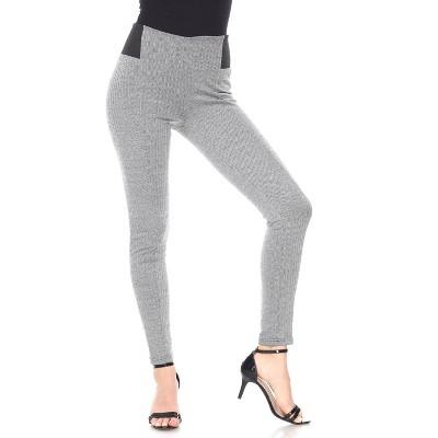Women's Jacquard Slim Pants - White Mark