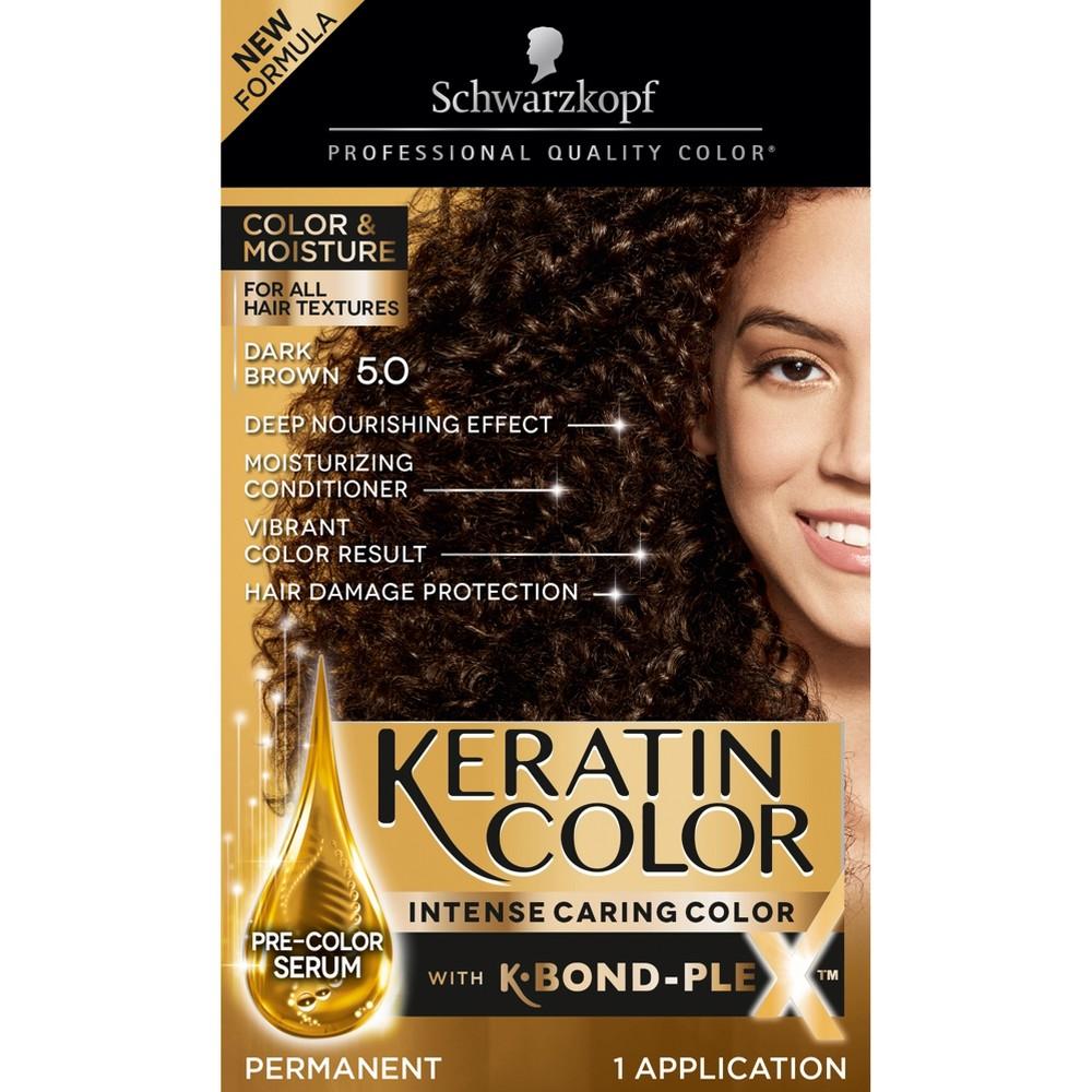 Image of Schwarzkopf Keratin Color Dark Brown Permanent Hair Color - 6.2oz