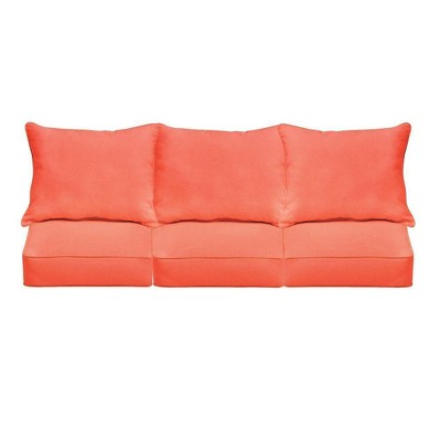 Sunbrella Outdoor Seat Cushion Melon Coral Target