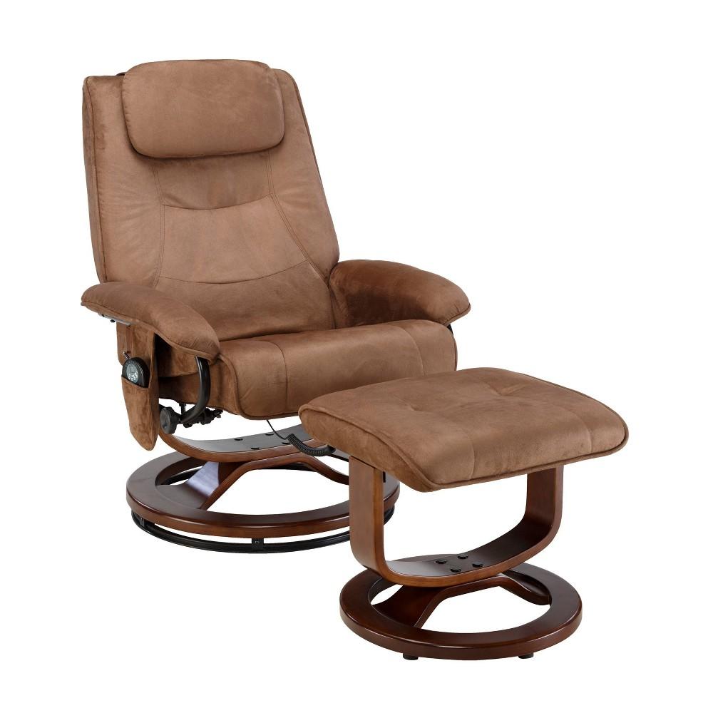 Image of Deluxe Padded Massage Recliner Black - Relaxzen