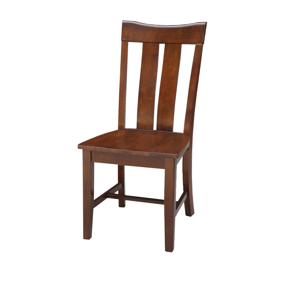 Ava Dining Chair Espresso (Brown) (Set of 2) - International Concepts