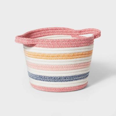 Small Multi Stripe Coiled Rope Storage Bin - Pillowfort™
