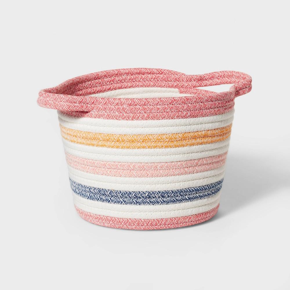 Small Multi Stripe Coiled Rope Storage Bin Pillowfort 8482