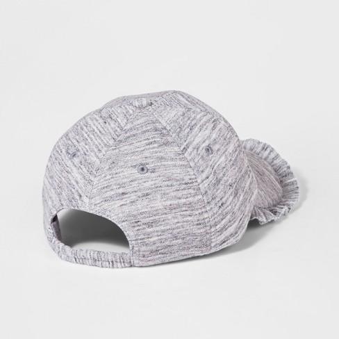 b5c1f3cfc6199 Girls  Jersey Ruffle Baseball Hat - art class™ Gray One Size. Shop all Art  Class