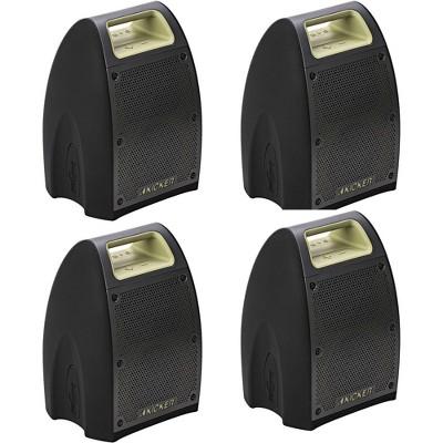 KICKER 43BF400G Bullfrog Portable Waterproof and Dustproof Outdoor Bluetooth Speaker with Powerful 20 Watt Amp & 360 Sound (4 Pack)