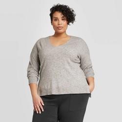 Women's Plus Size V-Neck Pullover - Ava & Viv™