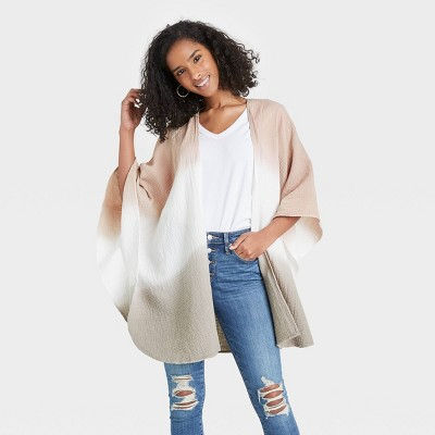 Women's Gauze Ruana Wrap Jacket - Universal Thread™