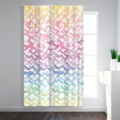 Americanflat Rainbow Abstract by Victoria Nelson Blackout Rod Pocket Single Curtain Panel 50x84