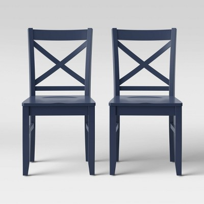 Set of 2 Carey Dining Chair Dark Blue - Threshold™