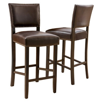 """Set of 2 30.5"""" Owen Barstool Brown - Christopher Knight Home"""