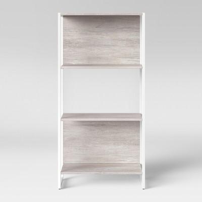 51.3  Paulo 3 Shelf Bookcase Weathered White - Project 62™