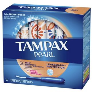 Tampax Pearl Tampons - Super Plus Absorbency - Plastic - 36ct