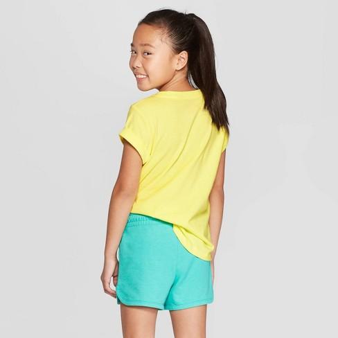 2c90bd05823 Girls  Short Sleeve Pineapple Print Pocket T-Shirt - Cat   Jack™ Yellow
