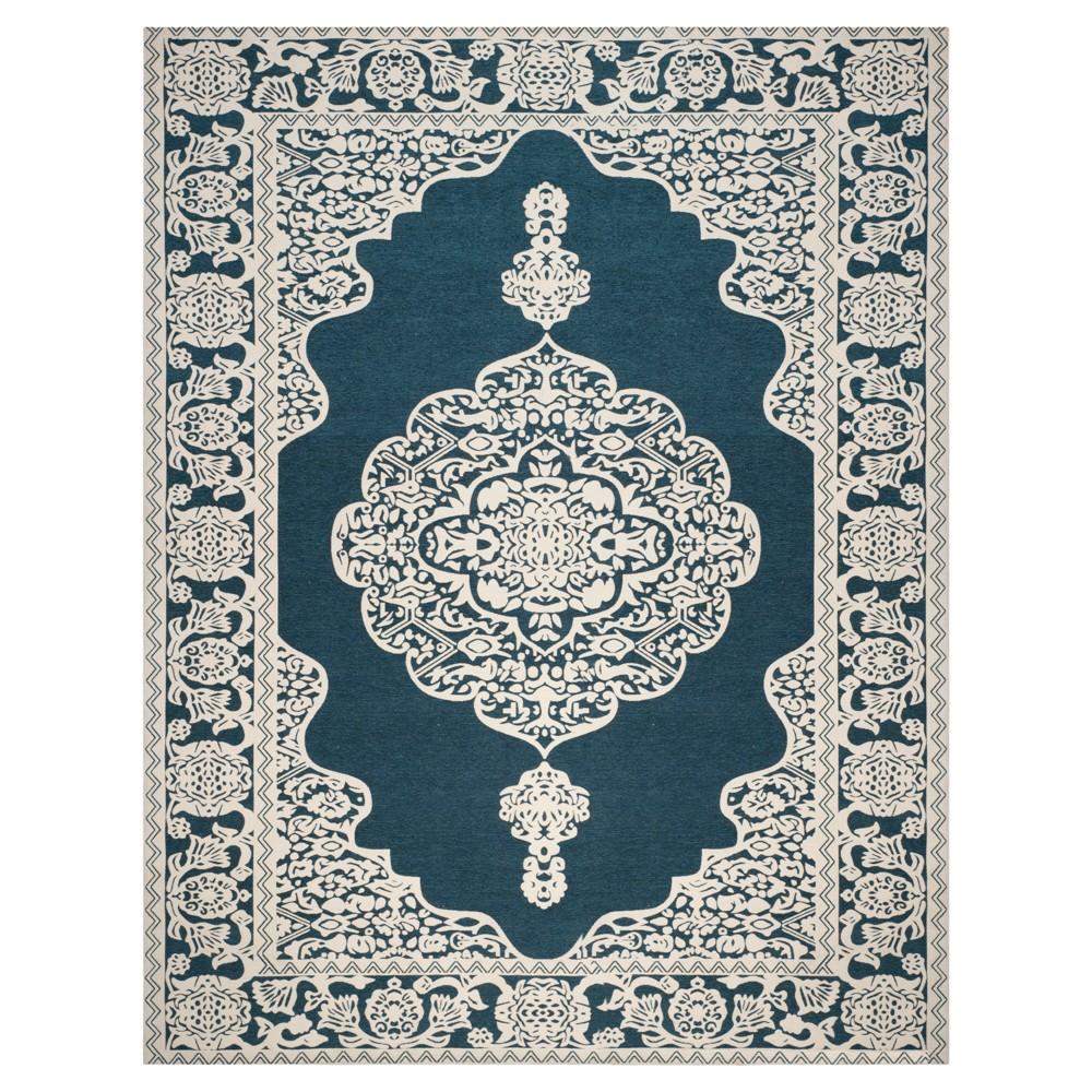 Dark Blue/Ivory Abstract Woven Area Rug - (8'X10') - Safavieh