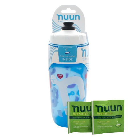 Nuun 21 fl oz Squeeze Sport Water Bottle - Includes 2 Free Samples
