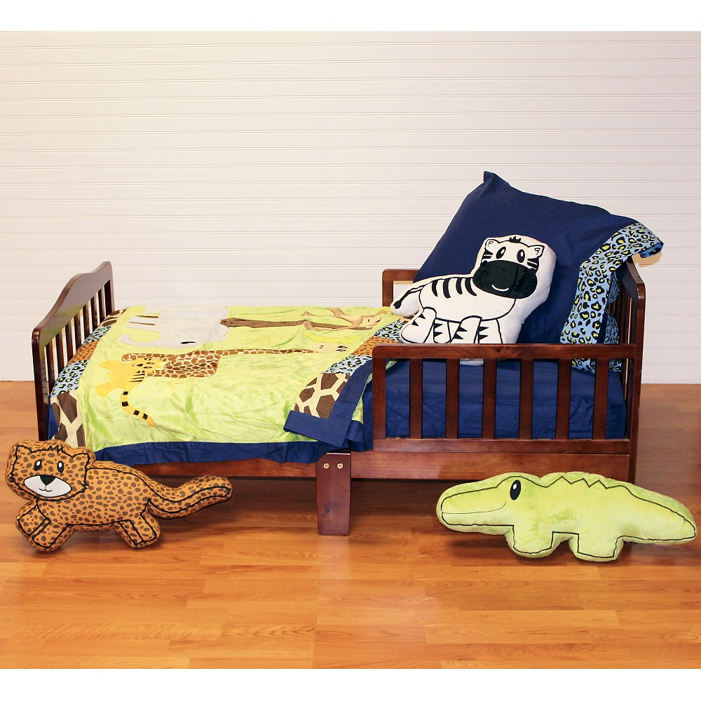 One Grace Place Jazzie Jungle Boy Toddler Set 4 Piece - Multicolor (Toddler)