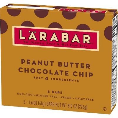 Larabar Peanut Butter Chocolate Chip Fruit And Nut Bar - 5ct