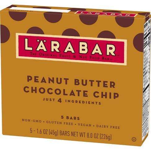 Larabar Peanut Butter Chocolate Chip Fruit And Nut Bar - 5ct - image 1 of 4
