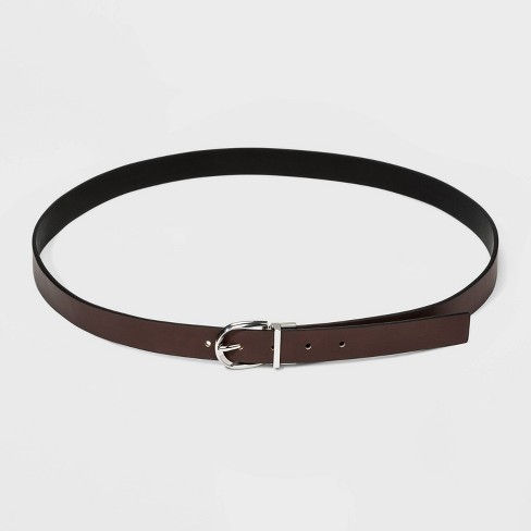 Women's Reversible Belt - A New Day™ Black/Brown - image 1 of 3