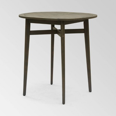 Stamford Acacia Wood Oval Rustic Bar Table - Christopher Knight Home
