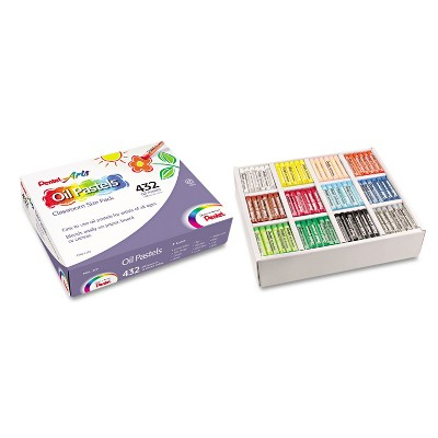 Pentel Oil Pastel Set With Carrying Case 12-Color Set Assorted 432/Pack PHN12CP