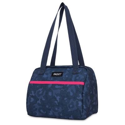 Packit Freezable Hampton Lunch Bag - Heather Leopard Navy