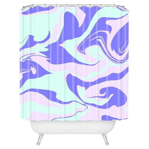 Hypnotic Camo Shower Curtain Purple