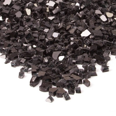 20lb Fire Glass Reflective Chips Black - Real Flame